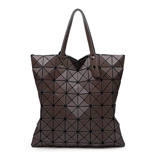 Schillernde Finish (Matte Finish Folding Handtaschen Fashion Casual Women Tote Chocolate)