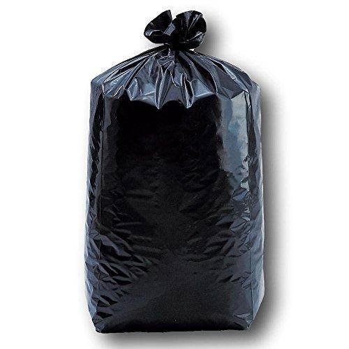 UNIVERS GRAPHIQUE Lot de 25 Sacs poubelles Noirs 100 litres 82 x 85 cm 30u Ultra résistant Anti Fuite pour Grand poubelles Grand capacité Cuisine extérieur - qualité Professionnel.