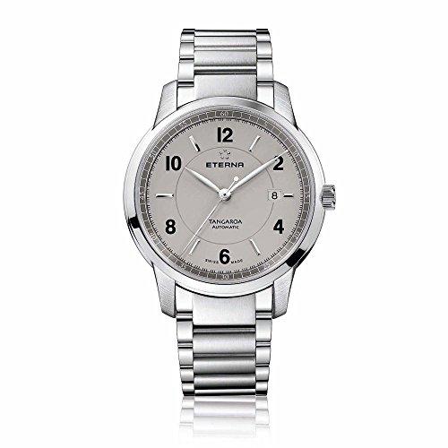 Eterna 2948.41.53.0277 - Reloj de pulsera hombre, acero inoxidable, color plateado