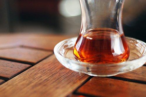 Topkapi - 6er Set Tee-Untersetzer für Türkische Teegläser Teeglas Zeynep Rund, Ø 10,2 cm, 6 Stück