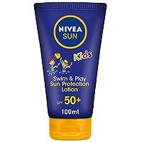 NIVEA, Sun, Lotion, Kids Swim & Play, Very High SPF50+, 100ml