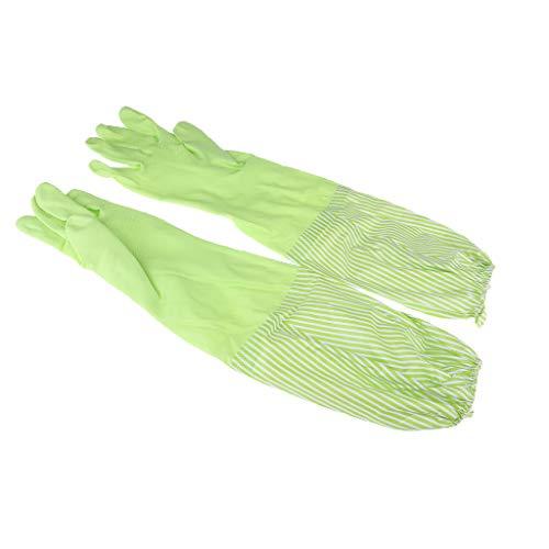 Baoblaze Lang Gummihandschuhe gefüttert Haushaltshandschuhe Latexhandschuhe Spülhandschuhe Wiederverwendbare Küchenhandschuhe - Grün