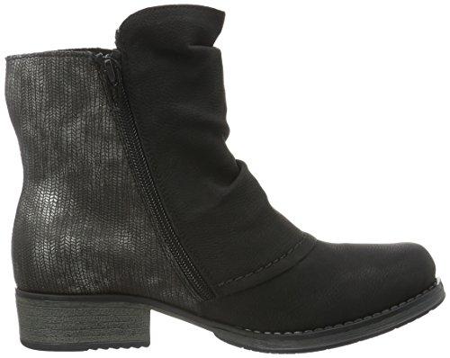Rieker Y9790, Stivaletti Donna Nero (schwarz/grau/schwarz-silber / 00)