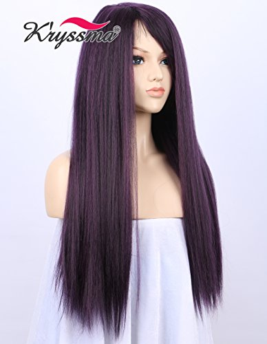 kryssma-beauty-new-series-fashion-mixed-purple-coarse-yaki-wigs-for-black-women-natural-looking-side