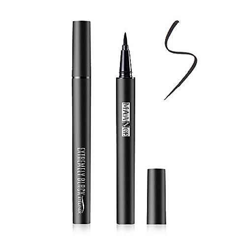 Eyeliner Wasserdicht-Gel Super Liquid Liner Perfect Slim Langanhaltenden Schwarz Flüssig Eyeliner (Filzstift Red Ink)