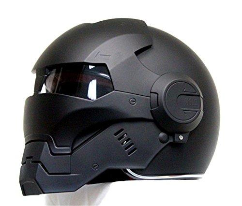 2017 Top Heißer Black Iron Man Helm Motorrad Helm Halb Helm Offenen Gesicht Helm Casque Motocross GRÖßE: S M L XL XXL,Black-L