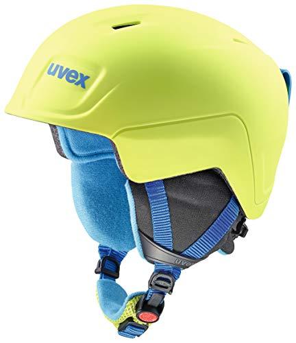 Uvex Manic Pro Casque de Ski pour Enfant, Enfant, S5662246401, Lime-Blue met Mat, 46-50 cm
