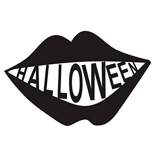 Wandtattoo Gesichtszähne Halloween Party 29X45Cm Wandtatoo Wandsticker Wandaufkleber Wanddekoration Für Entfernbare Wohnzimmer Schlafzimmer Flur