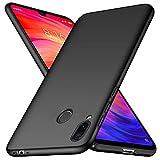 TopACE Coque pour Xiaomi Redmi7 Phone Anti Choc Anti Rayure Coque Mat Ultra Fine Slim Dure pour Xiaomi Redmi 7, Etui de Protection pour Une Meilleure Adhérence Noir