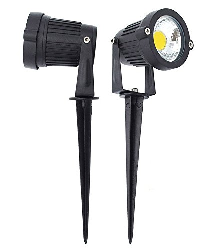 Citra 6W LED Landscape Spotlight 12V 24V Outdoor Waterproof Path Light Low Voltage Lamp with Spike Stand for Garden, Yard, Pathways, Lawn, Driveway Decorative Lighting ( Warm White)