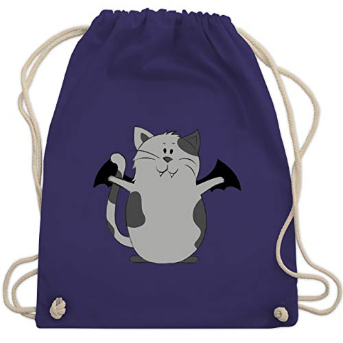 Halloween - Katze Halloween - Unisize - Lila - WM110 - Turnbeutel & Gym Bag