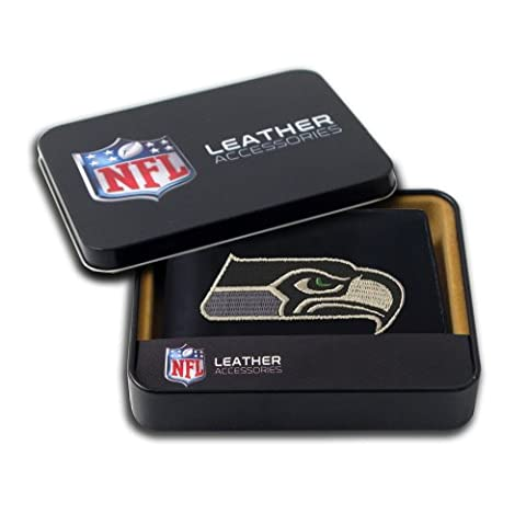 NFL Seattle Seahawks Embroidered Genuine Leather Billfold