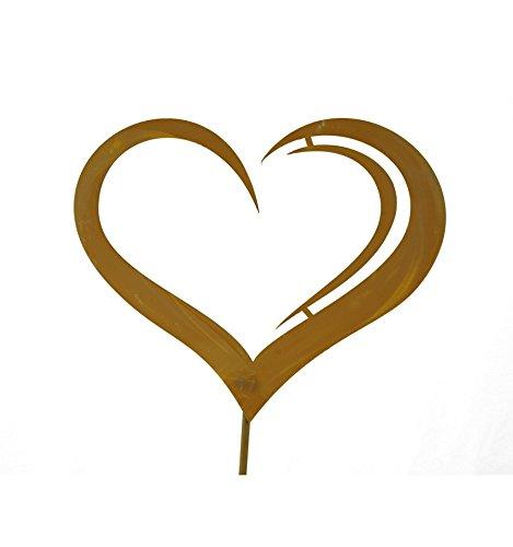 Metallmichl Gartenstab Herz negativ auf 100cm Stab