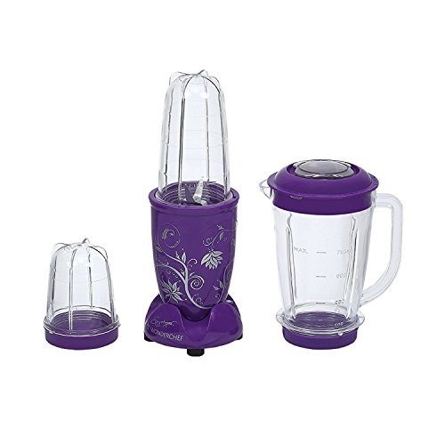 Wonderchef Nutri-blend Juicer Mixer Grinder With Big Mixer Jar (purple)