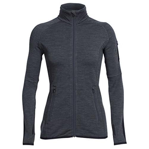 41hebWxQ2sL. SS500  - Icebreaker Women's Real Fleece Atom Long Sleeve Full Zip Cover Ups
