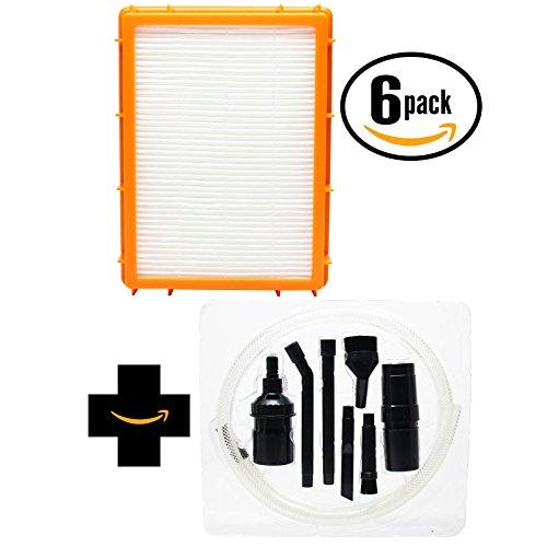 6-pack sostituzione filtro HEPA aspirapolvere Eureka 4870GZ con 7Micro-Kit di fissaggio, compatibile Eureka HF-2Filtro HEPA