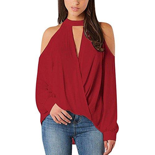 ➤Refill➤Langarmshirts für Damen,Damen Oberteile Elegant Ärmellos Blusen Shirt Crop Tops für Damen Sommer, Blusen & Tuniken für Damen (Leopard Lingerie Print)
