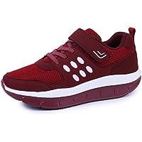 NGRDX&G Damen Sneaker Damen Schuhe Freizeitschuhe Sport Wasserdichte Und Atmungsaktive Wedge Platform Schuhe Frauen Damen Schuhe, Blau, 9,5