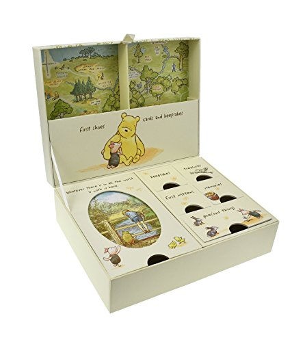 Pooh Classics Range Disney Classic Pooh Keepsakes Baby Box with Compartments NEW (D1167)