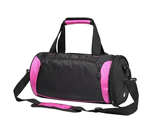 LAIDAYE Sport-und Fitness-Yoga-Tasche Packtaschen Sporttasche Fitnesstasche Große Kapazität Handtasche Red