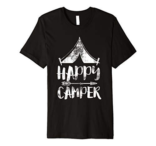 Vintage Happy Camper Zelt Pfeil Summer Fun Camping T-Shirt