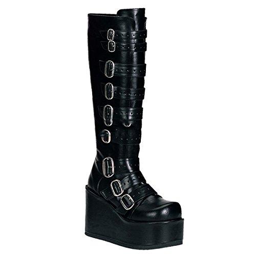 Demonia Concord-108 - Gothic Punk Industrial Plateau Stiefel 36-43, Größe:EU-38 / US-8 / UK-5