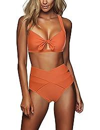 FeelinGirl Cruz Estilo Marino Dos Piezas Conjunto de Bikini para Mujer Traje de Baño Sexy