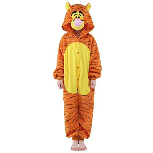 Finewlo Halloween Unisex Tier Pyjama Kind Cosplay Kostüm, Jump Jump Tiger, - Kind Tiger Pyjama Kostüm