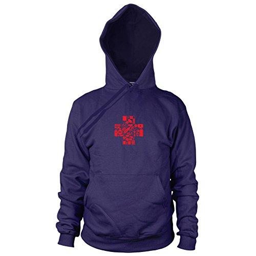 Planet Nerd Medic Gamer - Herren Hooded Sweater, Größe: XXL, dunkelblau
