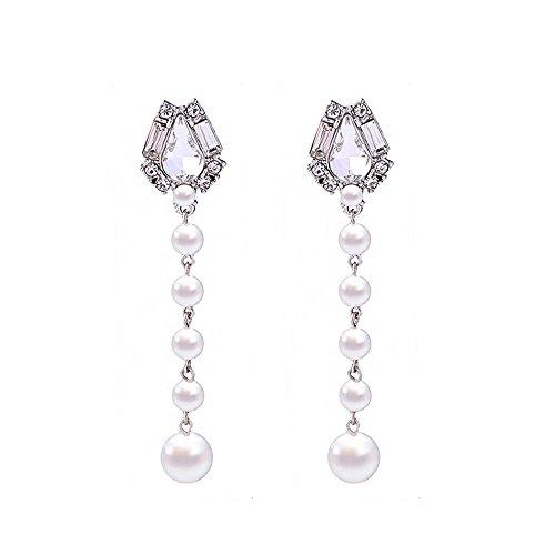 Elegante Perle Ohrstecker Frauen einfache und vielseitige Facelifting lange Ohrringe Europa und...