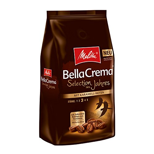 Melitta Ganze Kaffebohnen, 100% Arabica, BellaCrema, Selection des Jahres 2018, 1 kg