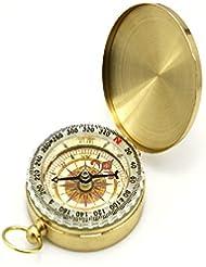 CC Brújula de metal de concha Brújula de cobre Brújula portátil Compás de reloj de bolsillo Brújula