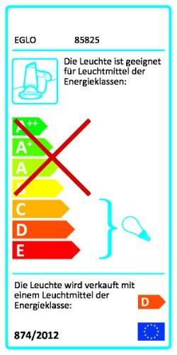 Eglo 85825 Sticker - Lámpara de pared (acero, GU10, 50 W, incluye bombilla, 5,5 cm de longitud, 9,5 cm de alto), color cromo