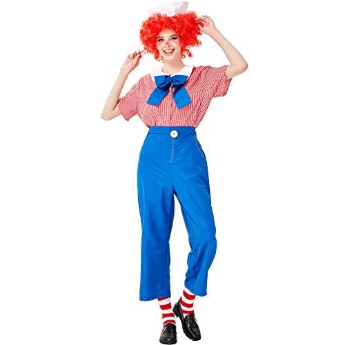 Bing Dress Kostüm Fancy - Adult Lady Clown Kostüm, Overall Und Perücken Sweetie Halloween Fancy Dress Up,A,L