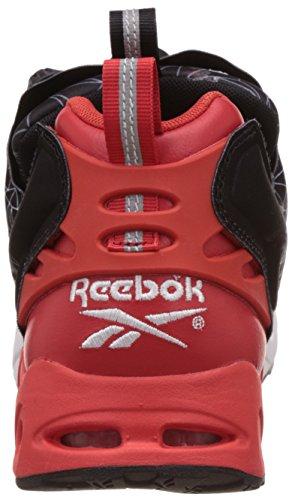 Instapump Tessuto Peloso nero Basket Nero rosso Reebok Bianco Stampa Strada Con 5wBCqXw