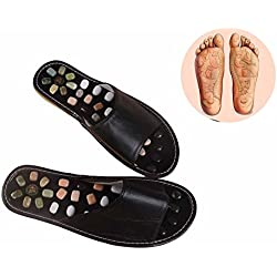 Reflexologie Massage-Sandale Detox Hilft Schlafen Akupunktur Pediküre Massage Fuß Schuhe 38 schwarz