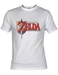 "Camiseta Zelda ""Legend a Link to the Past"" (Talla: Talla L Unisex Ancho/Largo [56cm/74cm] Aprox], Color: Blanco)"