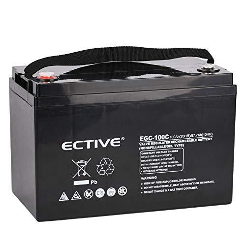 ECTIVE 12V 100Ah Gelbatterie (VRLA) Deep Cycle Versorgungsbatterie Solar Batterie extrem Zyklenfest in 6 Varianten (Deep Batterien Cycle Agm)