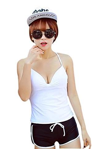 maillot de bain camisole et un short de style de maillots de bain des femmes, 6 couleurs