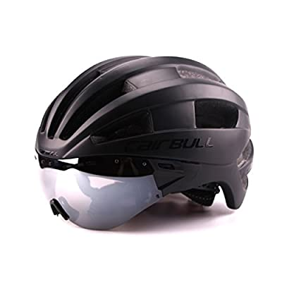 Cairbull Men/Women Bike Helmets CE Certified Adjustable Cycle Bicycle Helmet With Goggles Visor Shield send Storage backpack by Cairbull