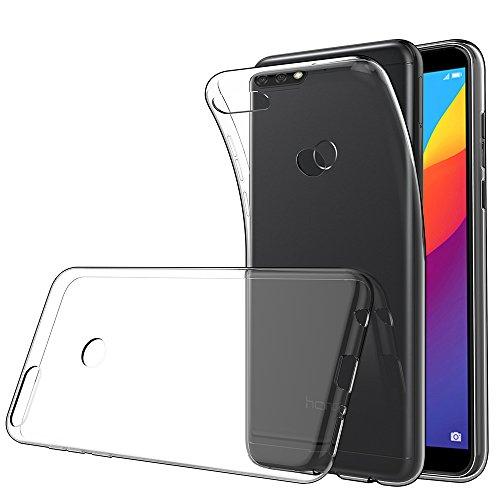 Simpeak für Huawei Y7 2018 Hülle Clear, Silikon Transparent TPU SchutzHülle Case Hülle für Huawei Honor 7C / Huawei Y7 prime 2018