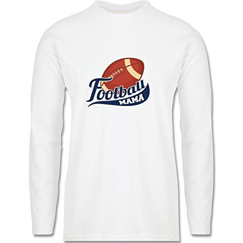 Sonstige Sportarten - Football Mama - Longsleeve / langärmeliges T-Shirt für Herren Weiß