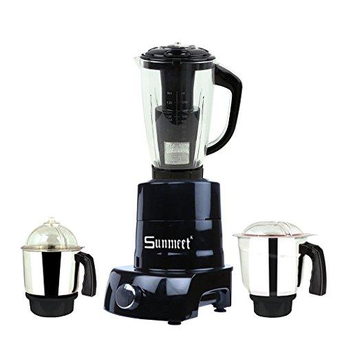 Sunmeet PG18 1000W Mixer Grinder (Black, 4 Jar)