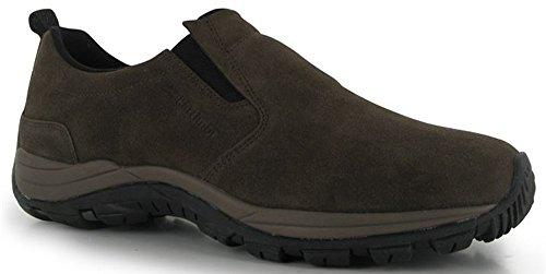 Para hombre elástico Slip On Moc–Zapatos de Senderismo Calzado, color multicolor, talla 44 EU