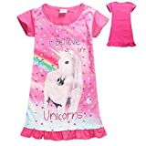 Estate Carino Stampa Bambini Girl Dress Unicorn Camicia da Notte con Arcobaleno Stampati bebé Bambino Abiti Casual
