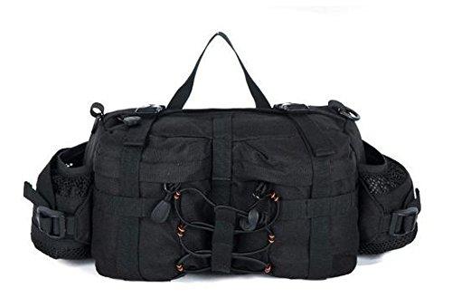 Zll/Outdoor Army Fan Pack Sport Satteltasche Multifunktions-tragbar Taille Tasche Messenger Tasche Brust Pack Schwarz