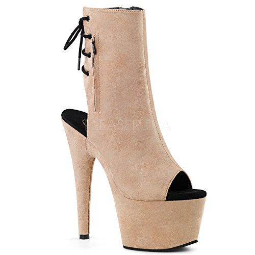 Pleaser Women ADORE-1018FS/BEFS/M Boots Open-back Ankle Boots