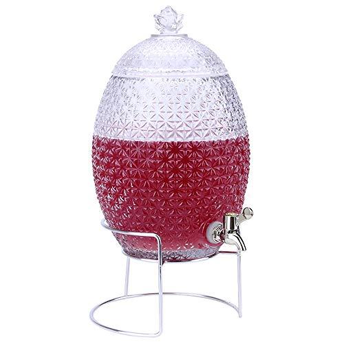 KTYXDE Weinglas Dispenser Saft Bier Kaffee Getränk Familie Bar Party Trinkbrunnen 10L Getränkespender (Color : 10L-ABS Spigot-Stand) - Glas Dispenser Spigot