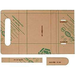 8.7 x 4.7 pulgadas Conjunto de plantillas de fabricación de bolsos de mano con Patrón de billetera de acrílico transparente para Herramienta artesanal de cuero de bricolaje