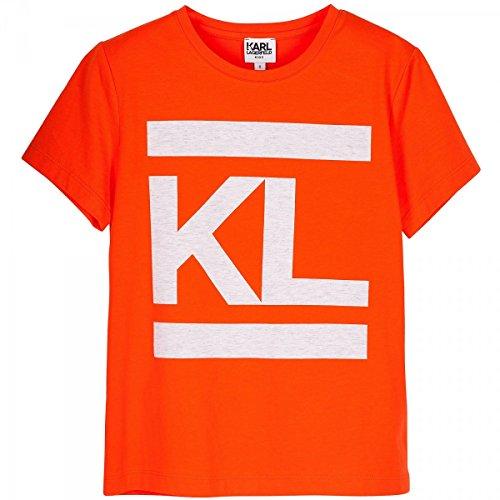 Karl Lagerfeld - T-Shirt Orange - 12 Ans, Orange